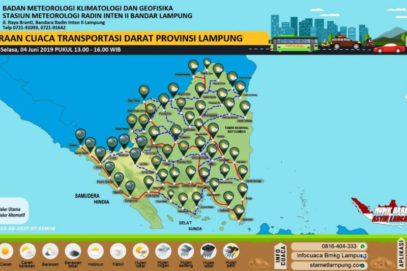 BMKG prakirakan cuaca Lampung cerah berawan