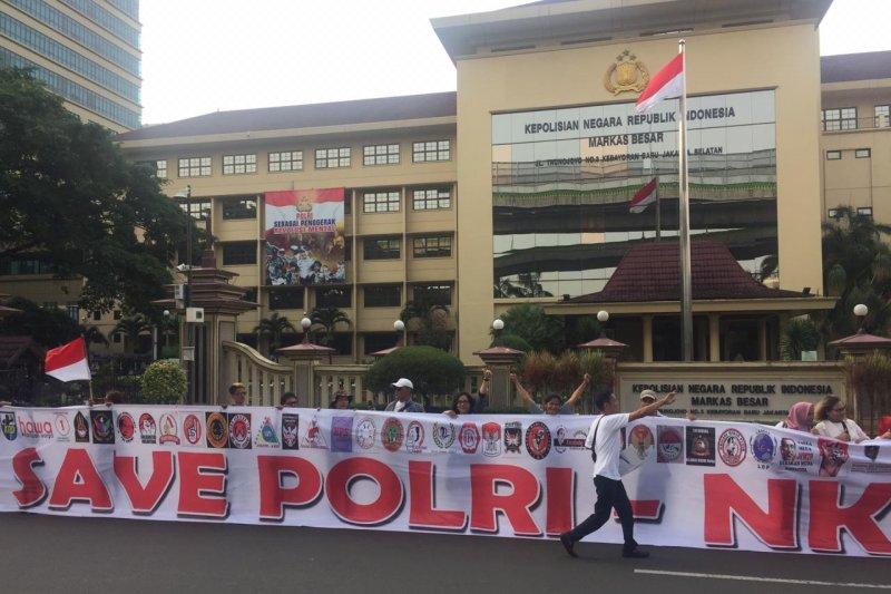 Ormas ARJ aksi damai dukung Polri usut peristiwa ricuh 21-22 Mei
