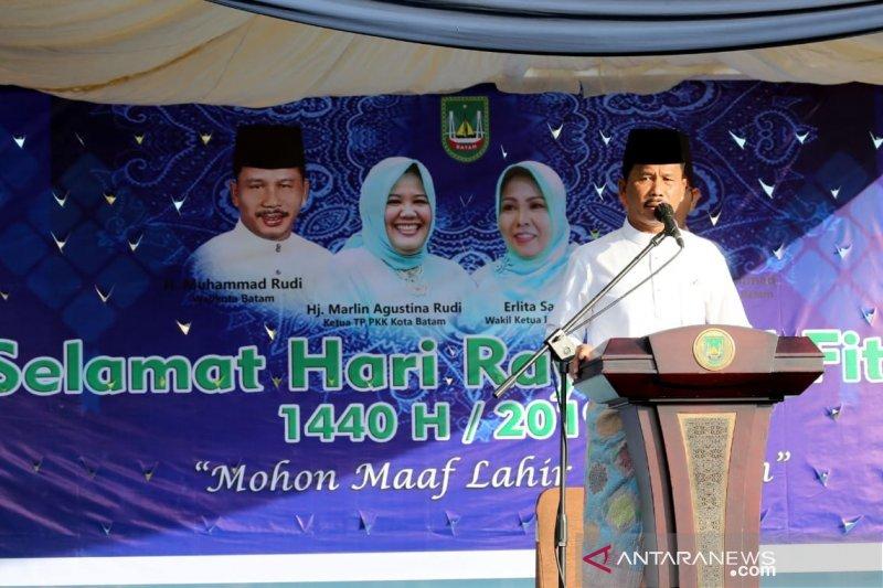 Masjid Agung Batam bisa digunakan September 2019