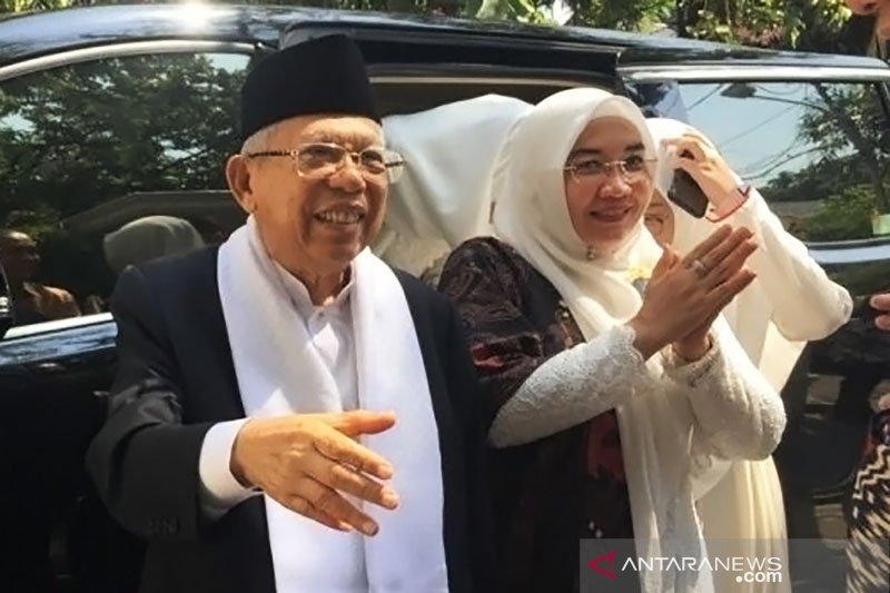Ma'ruf Amin ucapkan selamat Idul Fitri untuk Prabowo-Sandi