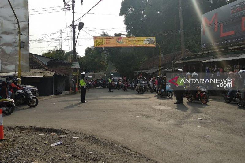 Puncak arus balik, Polres Sukabumi berlakukan rekayasa lalu lintas