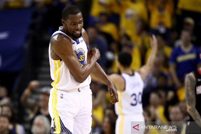 Durant mulai berlatih, sinyal melantai di gim kelima NBA