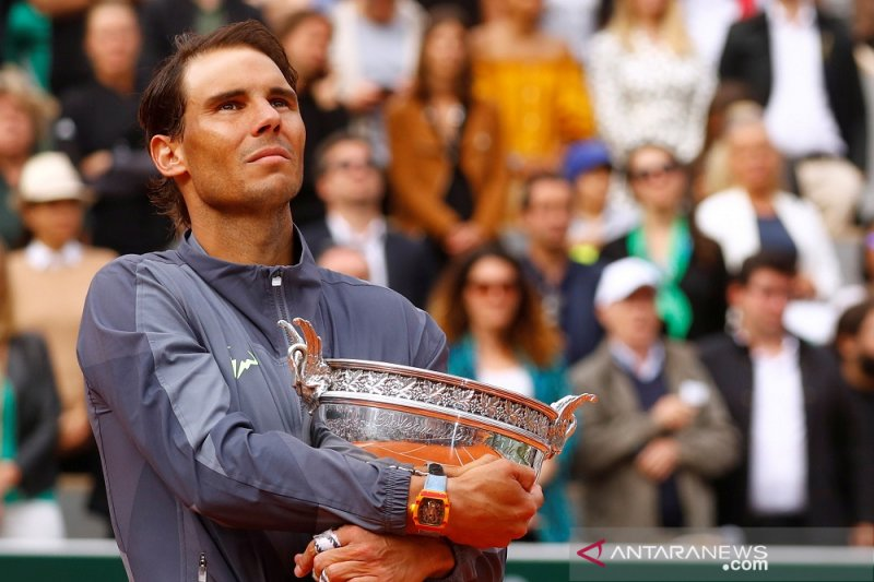 Juarai Prancis Open, Nadal banjir pujian di media sosial