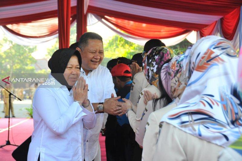 Risma-Whisnu gelar halalbihalal dengan jajaran Pemkot Surabaya