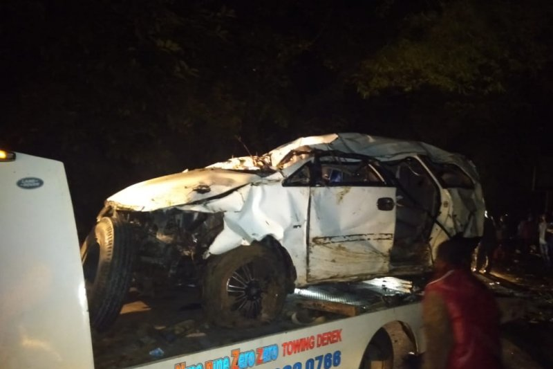 Mobil masuk jurang  dua korban hilang di Batang Agam