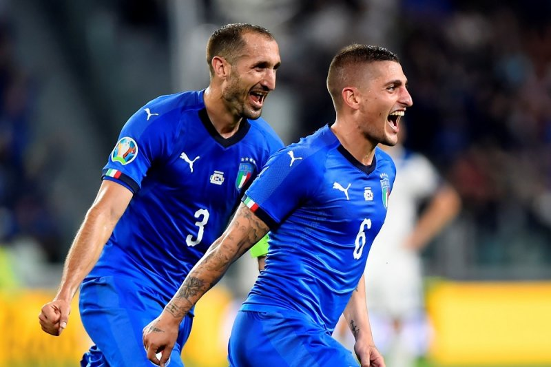 Italia jaga catatan sempurna di Grup J, setelah tundukkan Bosnia