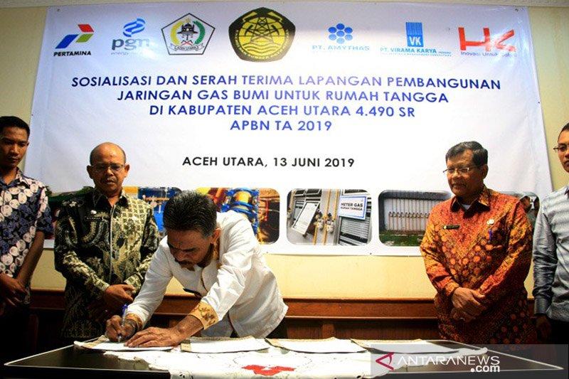 4.490 rumah tangga di Aceh Utara bakal tersambung jaringan gas