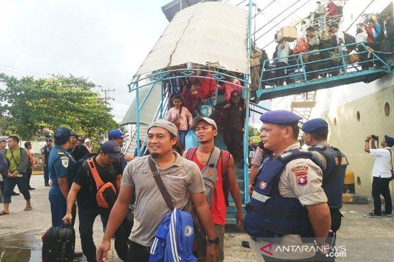 Arus balik terus mengalir, 4.073 penumpang tiba di Pelabuhan Sampit