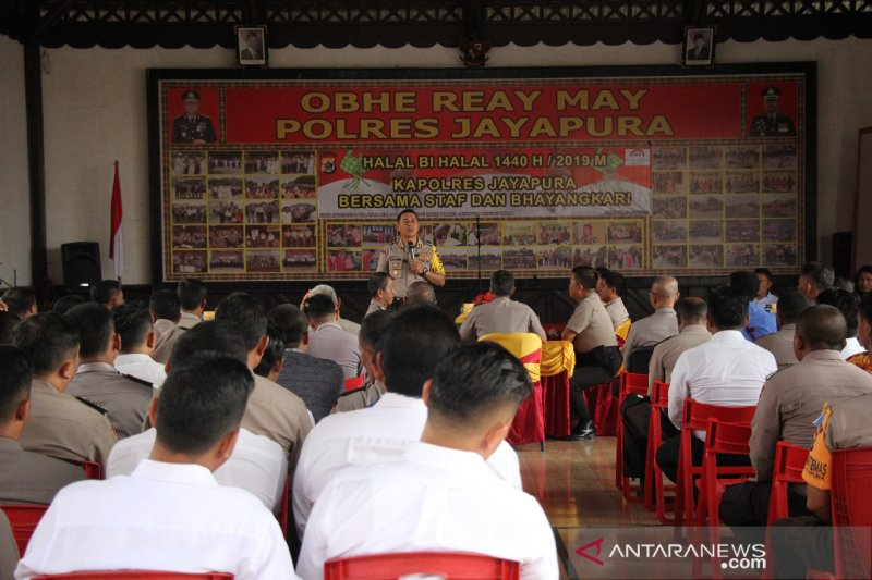 Kapolres Jayapura ajak caleg netral terima hasil pemilu