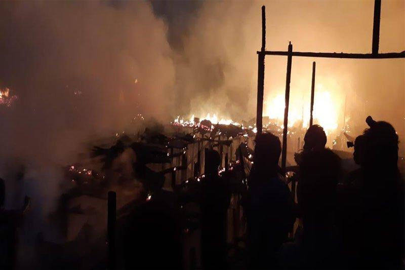 Breaking News! Pasar Desa Mangkahui ludes terbakar