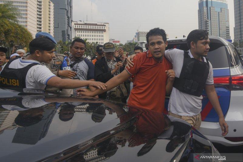 Polisi amankan diduga provokator aksi di MK