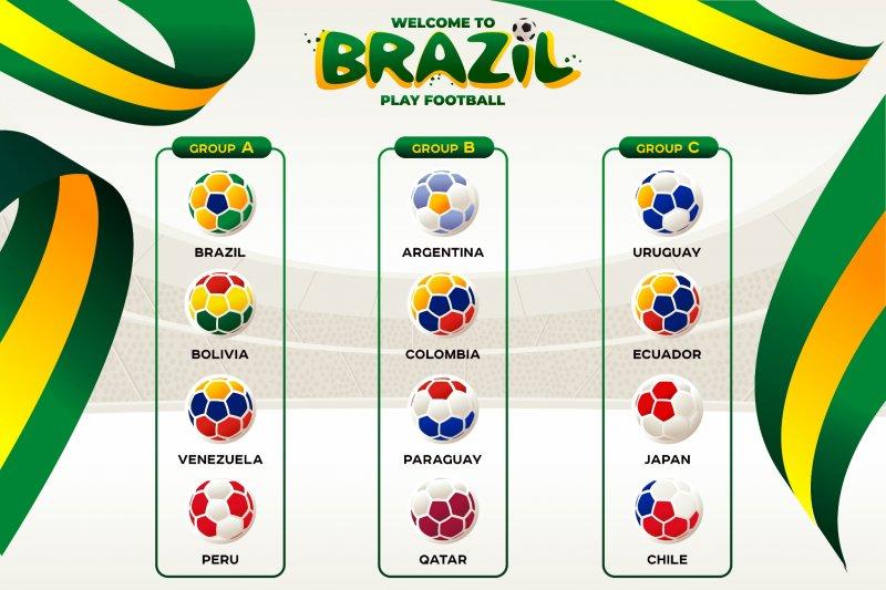 Ini jadwal fase grup, laga pembuka Brasil kontra Bolivia