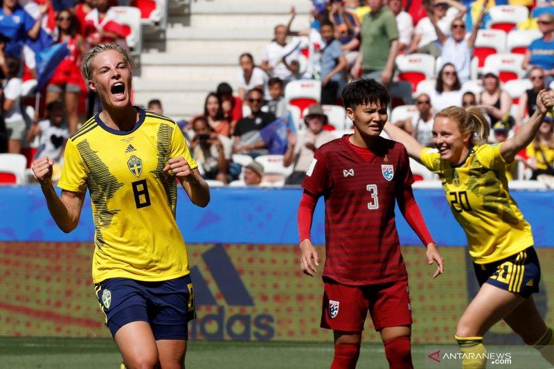 Swedia lolos ke 16 besar Piala Dunia Putri