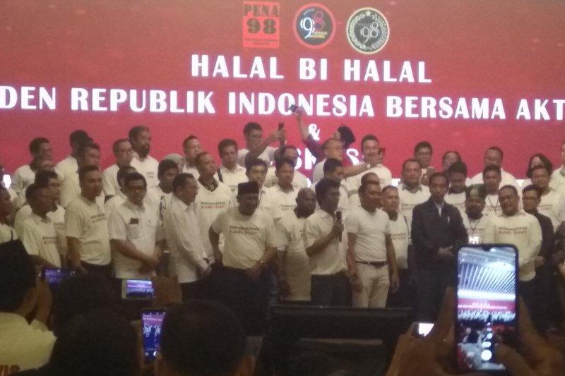 Presiden Jokowi hadiri halal bihalal aktivis 98