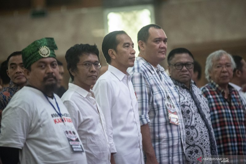 Jokowi hadiri halal bihalal dengan Aktivis 98