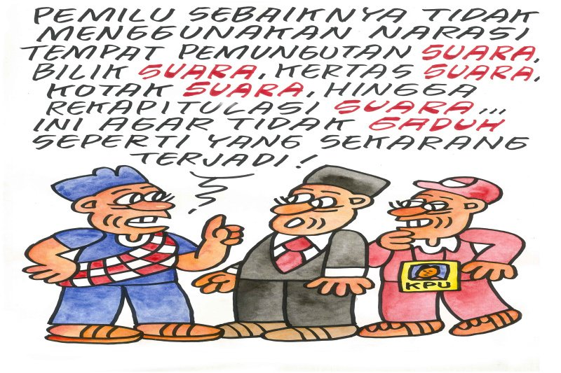 Sentilan ala kartunis Bilal terhadap politikus