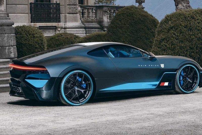 Rain Prisk, desainer otomotif bikin Bugatti Divo dengan mesin di depan