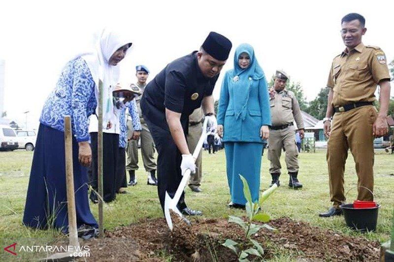 Peringati Hari Lingkungan Hidup, Dharmasraya tanam pohon