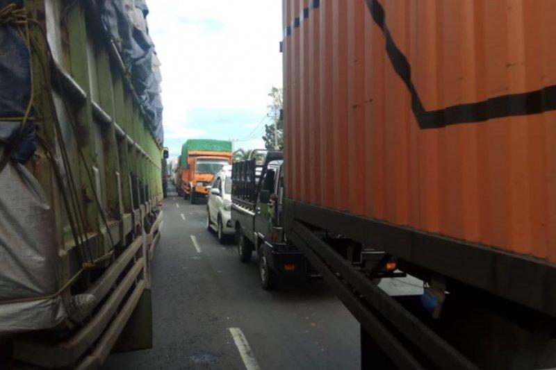 Jembatan amblas di lintas Mesuji Lampung - Sumsel