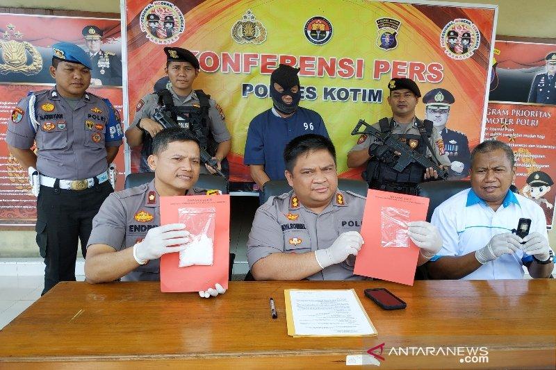 Polres Kotim tangkap pria simpan 101 gram sabu-sabu