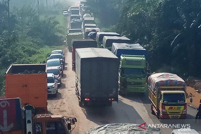Jalintim Mesuji Lampung- Mesuji Sumsel masih macet total