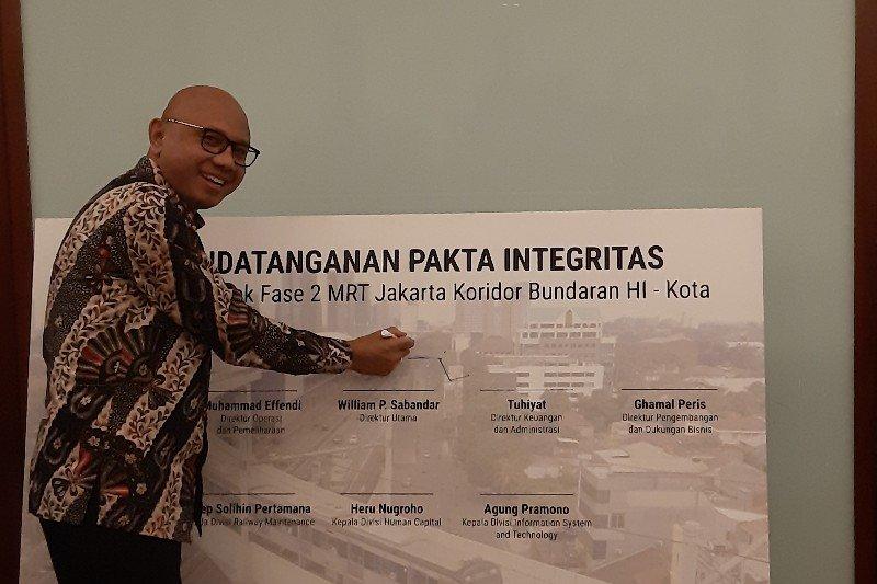 Cegah Korupsi Fase 2, PT MRT Teken Pakta Integrasi dengan Panitia Pengadaan Proyek