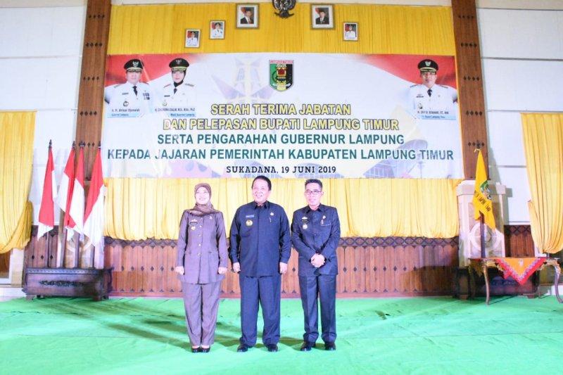 Serah Terima Jabatan Bupati Lampung Timur