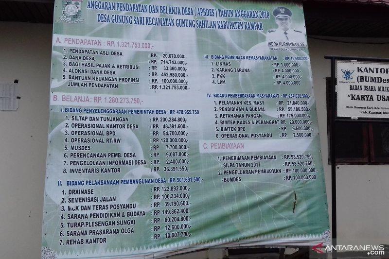 Realisasi pencairan Dana Desa di Riau hingga Juni masih minim