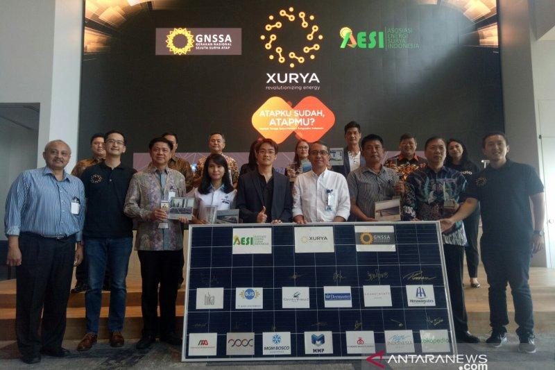 Sejumlah pengusaha Indonesia dukung Gerakan Nasional Sejuta Surya Atap