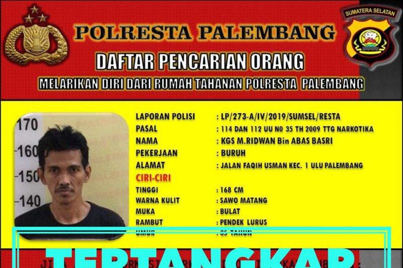 Delapan tahananPolresta Palembang masih kabur