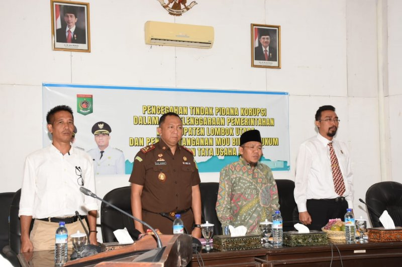 Bupati Lombok Utara buka penyuluhan pencegahan korupsi