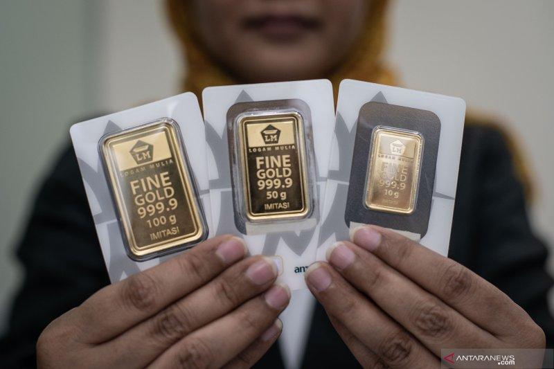 Harga emas turun dalam perdagangan elektronik