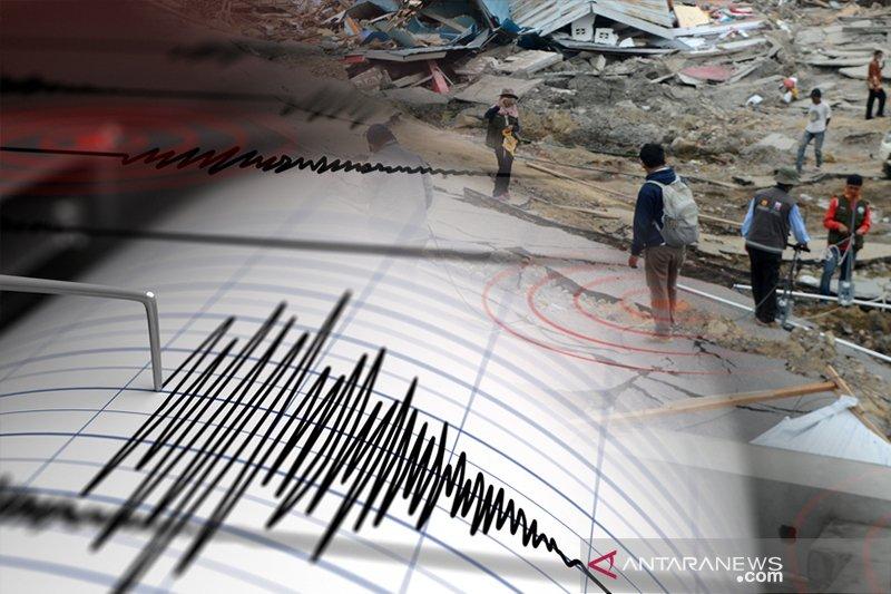 Gempa 5,5 skala Richter di Kepulauan Banggai Sulteng