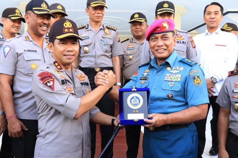 Kapolda Sulawesi Utara terima kunjungan Aspotmar Kasal