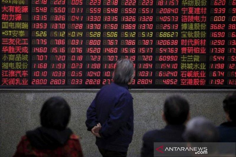Pasar saham China ditutup tak seragam