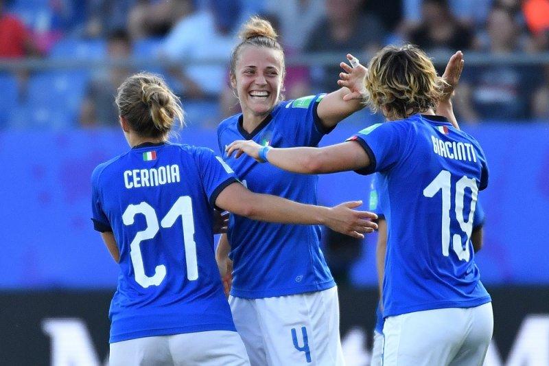 Tundukkan China 2-0, Italia lolos ke perempat final piala Dunia 2019