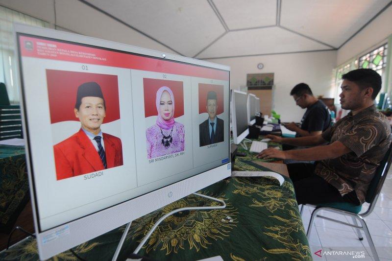 Persiapan e-voting Pilkades di Boyolali