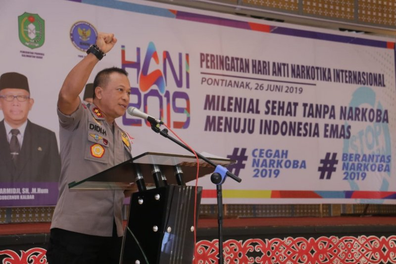 Berbatasan dengan Malaysia, Polda Kalbar komitmen berantas narkoba