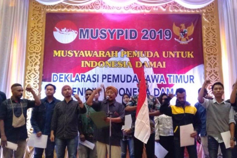 Kelompok pemuda Jawa Timur deklarasi menuju Indonesia damai