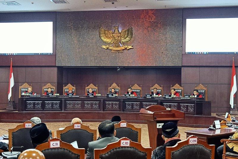 Hakim MK: Dana kampanye 01 sesuai peraturan yang berlaku