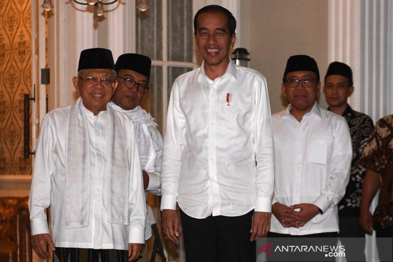 Jokowi bertemu Ma'ruf Amin jelang putusan sidang sengketa Pilpres