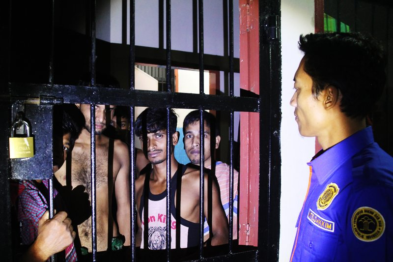 Imigrasi amankan 35 WNA Bangladesh
