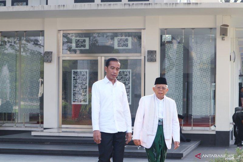 Pilpres usai  Jokowi-Ma'ruf berpesan masyarakat jaga kerukunan