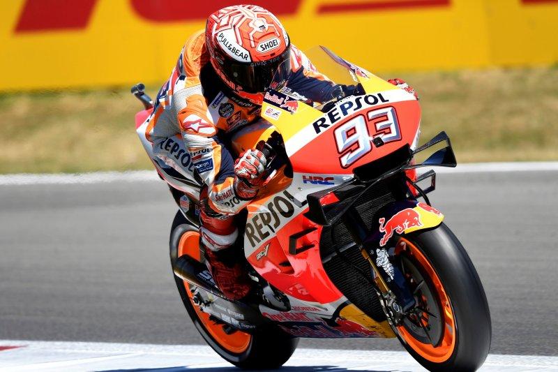 Marquez akui Yamaha dan Suzuki di kualifikasi GP Belanda