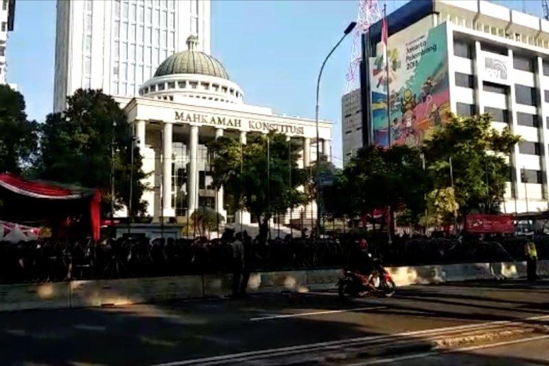 Pengamanan sidang sengketa pilpres, Medan Merdeka Barat dibuka