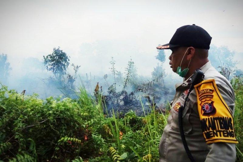 Polda tangkap empat tersangka pembakar lahan