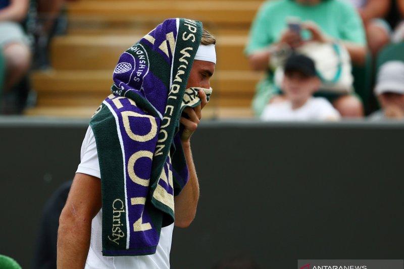 Stefanos Tsitsipas dan Zverev tersingkir pada putaran pertama Wimbledon