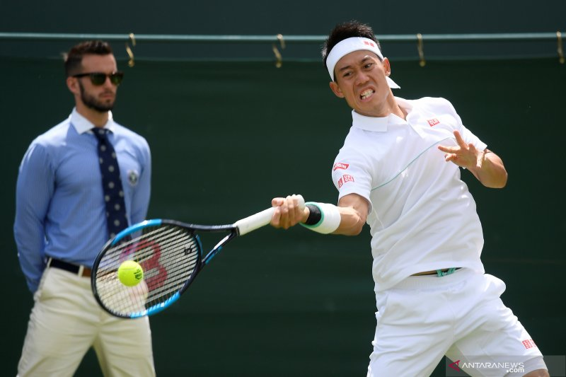 Nishikori tantang Federer di perempat final Wimbledon