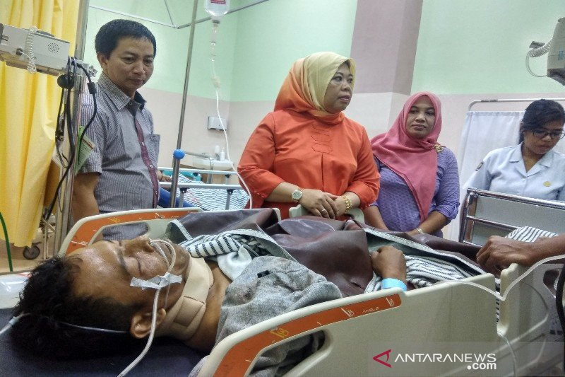 Tujuh korban laka bus rute Pontianak-Sampit dirujuk ke RSUD SI Pangkalan Bun