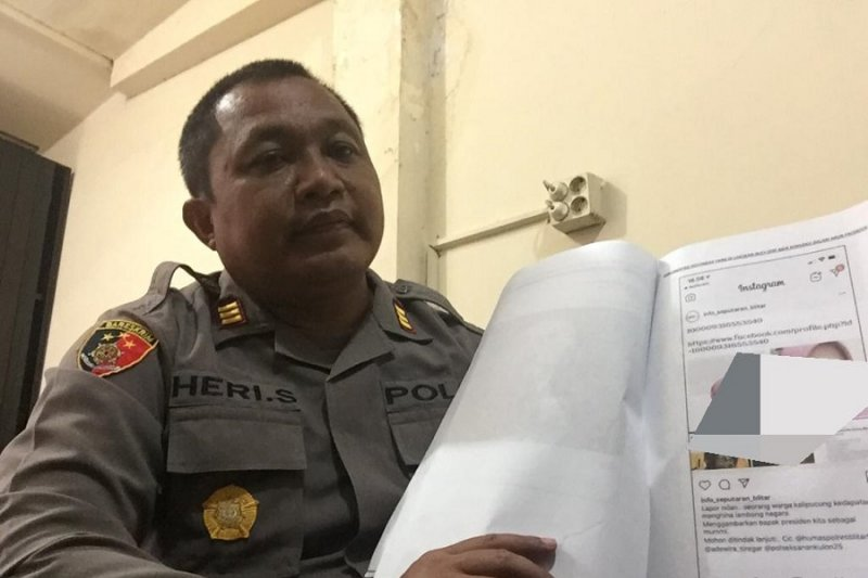 Polisi Blitar tangani postingan hinaan pada Presiden Jokowi